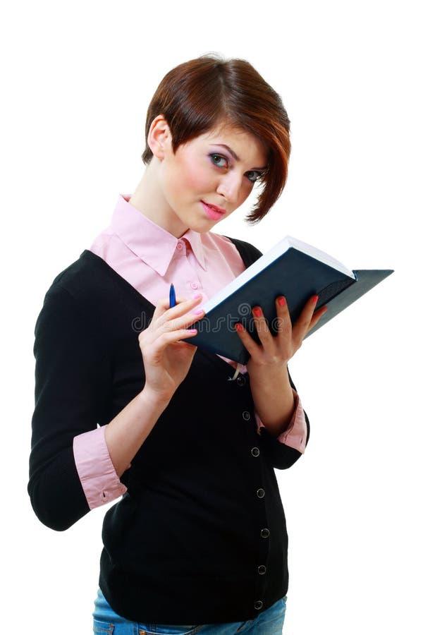 Młodej kobiety czytanie fotografia stock