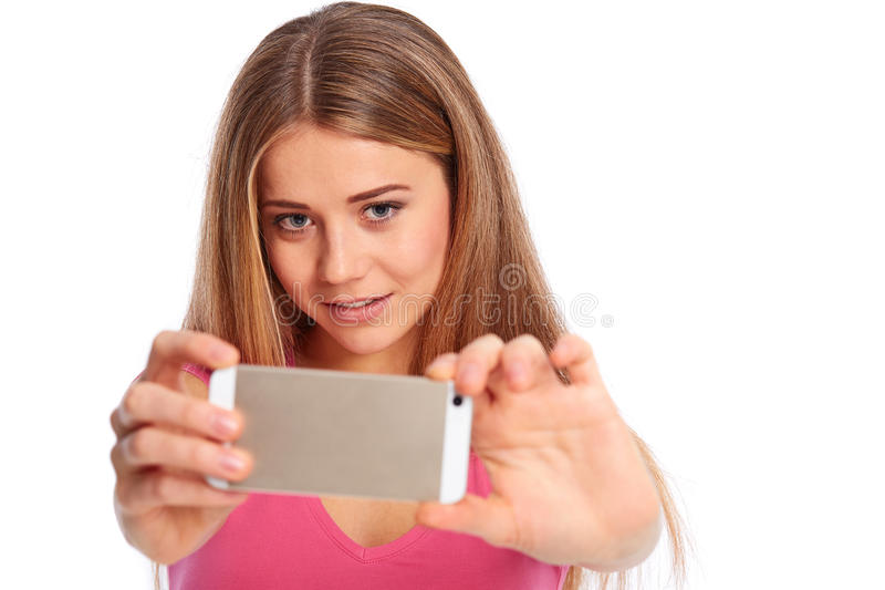 Młodej kobiety fotografować zdjęcia royalty free