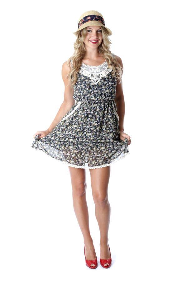 Młodej Kobiety Krótka Mini suknia zdjęcie royalty free