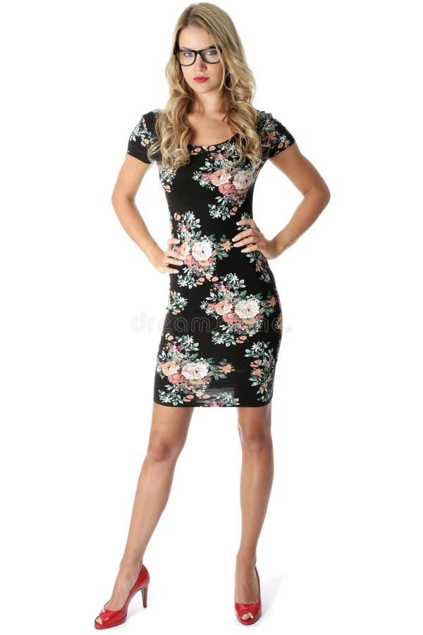 Młodej Kobiety Krótka Mini suknia zdjęcie stock