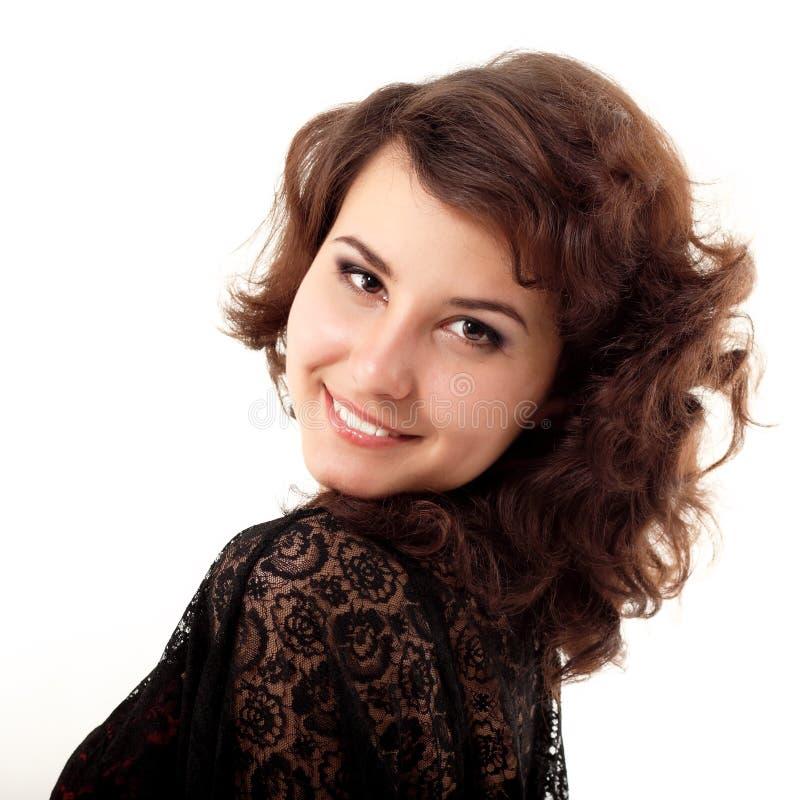 Młodej kobiety piękny rozochocony cieszyć się obrazy royalty free