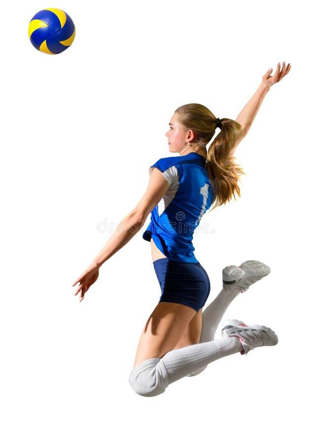 Młodej kobiety siatkówki gracz zdjęcie royalty free