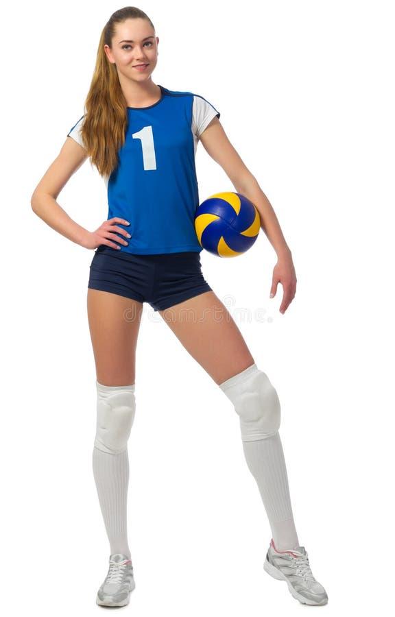 Młodej kobiety siatkówki gracz obraz royalty free