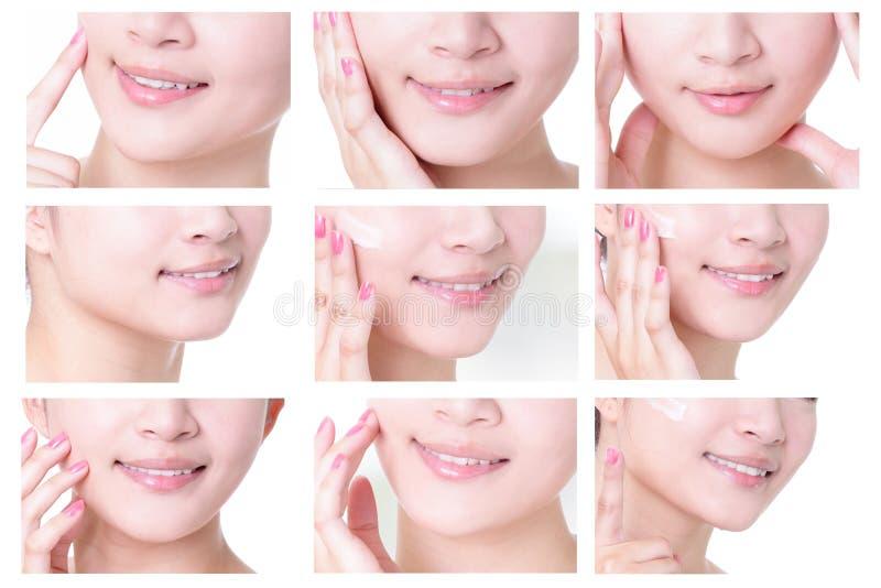 Młodej kobiety usta fotografia royalty free