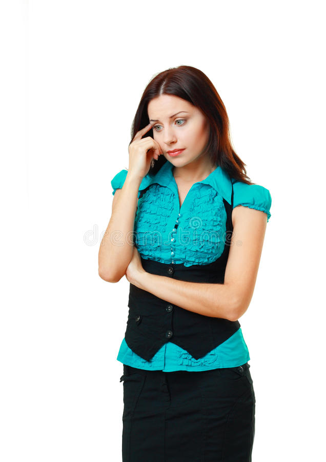 Młodej Kobiety Zmartwienie I Główkowanie Zdjęcia Stock