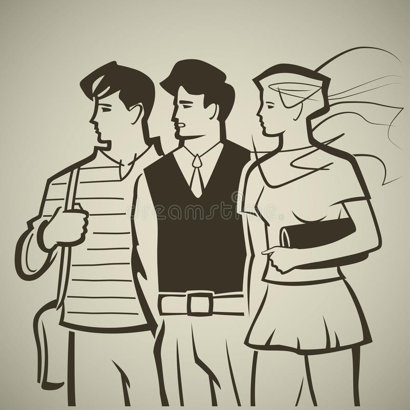 Młodość royalty ilustracja