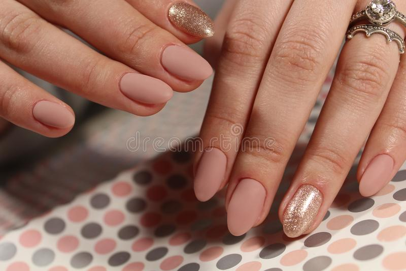 Młodość manicure'u projekt obraz royalty free
