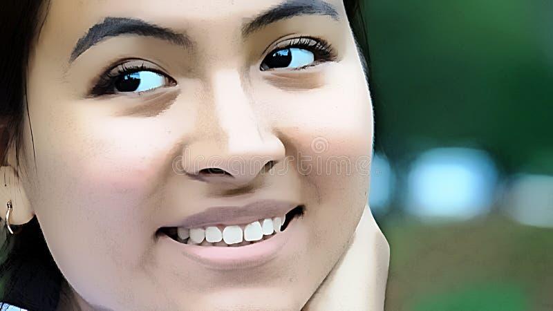 Młodociana Żeńska nastolatek twarz obraz stock