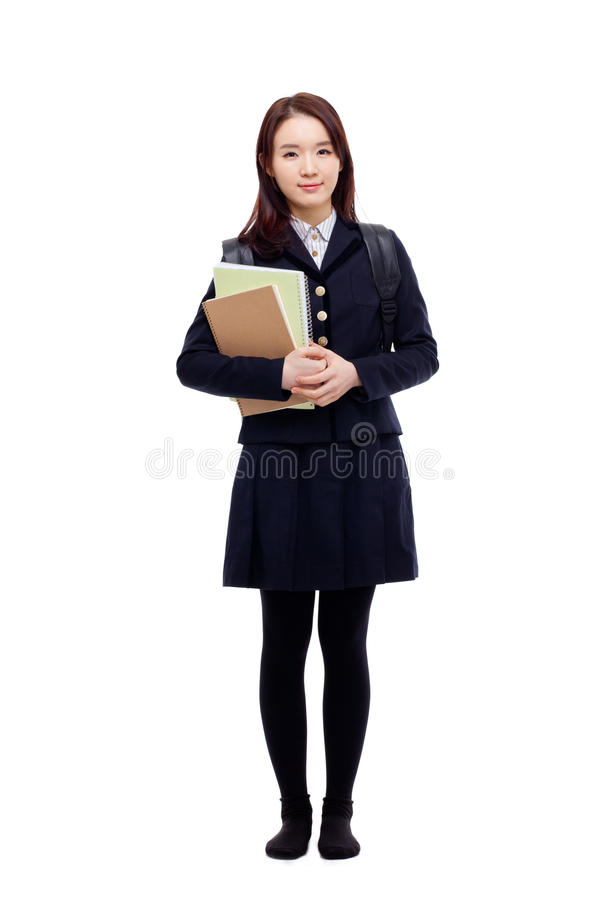 Młody ładny Azjatycki uczeń fotografia stock