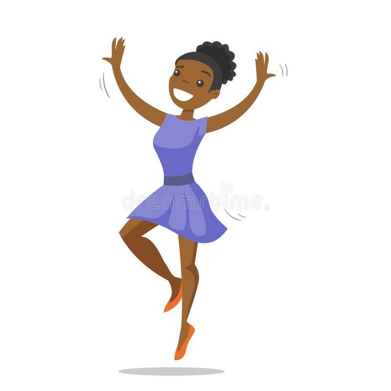 Młody afroamerykański kobieta taniec royalty ilustracja