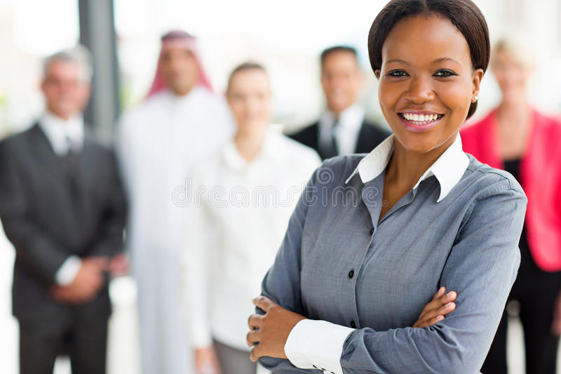 Młody afrykański businessowoman obraz stock