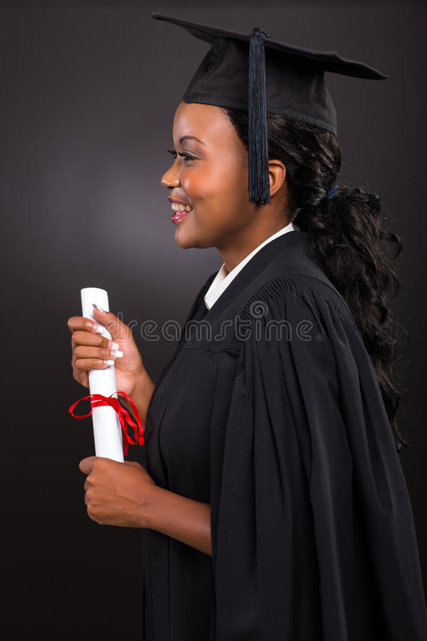 Młody afrykański kobieta absolwent obrazy royalty free