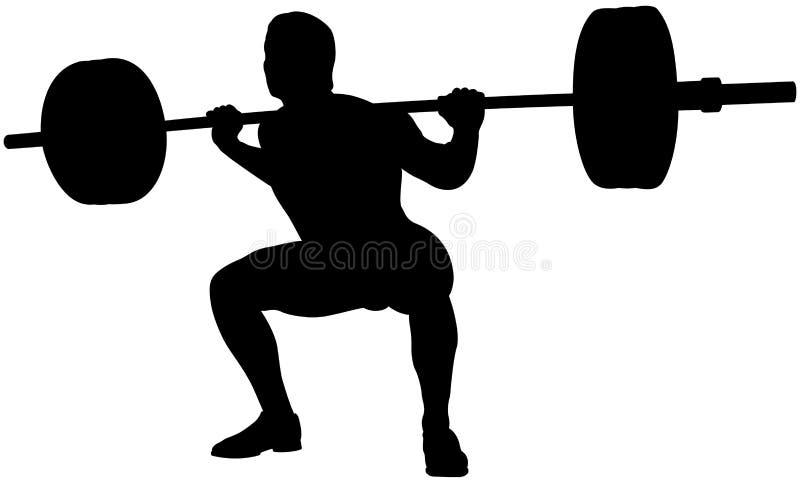 młody atlety powerlifter ilustracja wektor