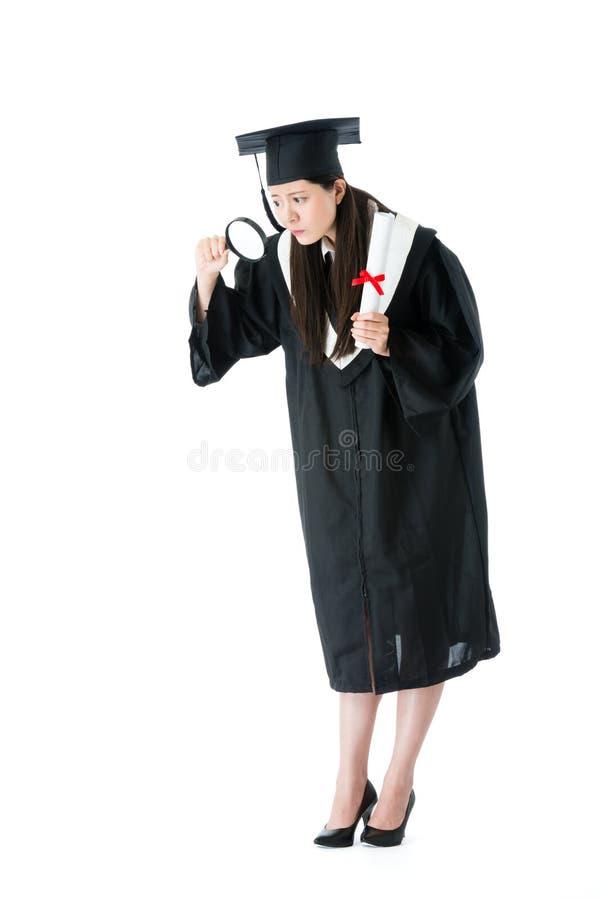 Młody atrakcyjny uniwersytecki kobieta absolwent zdjęcia royalty free