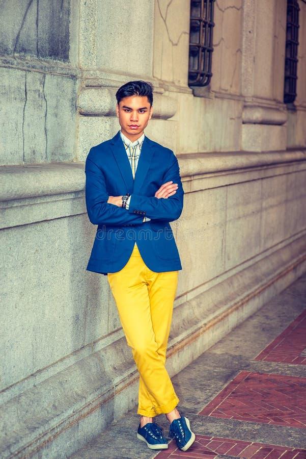 Młody Azjatycki Amerykański mężczyzna w Nowy Jork fotografia royalty free