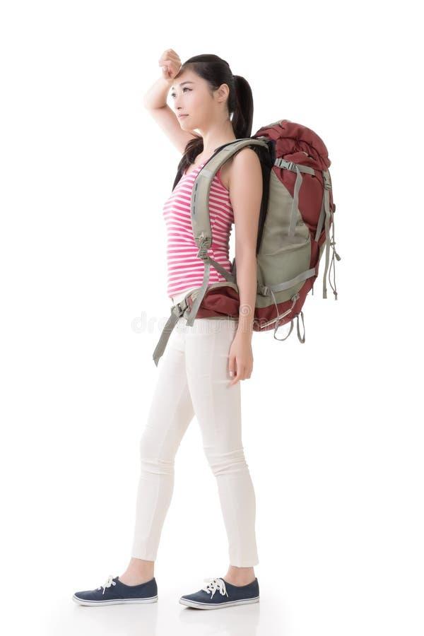 Młody Azjatycki backpacker fotografia stock
