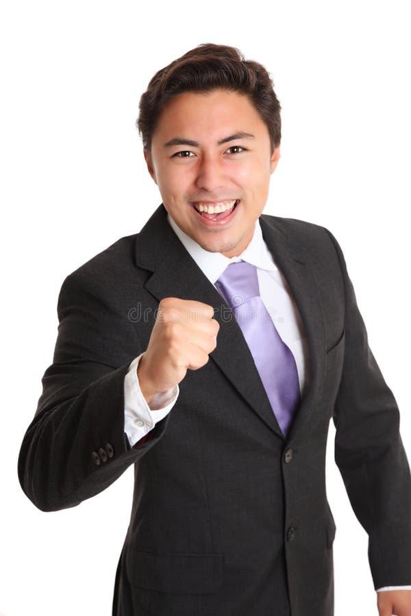 Młody biznesmen w krawacie i kostiumu fotografia stock