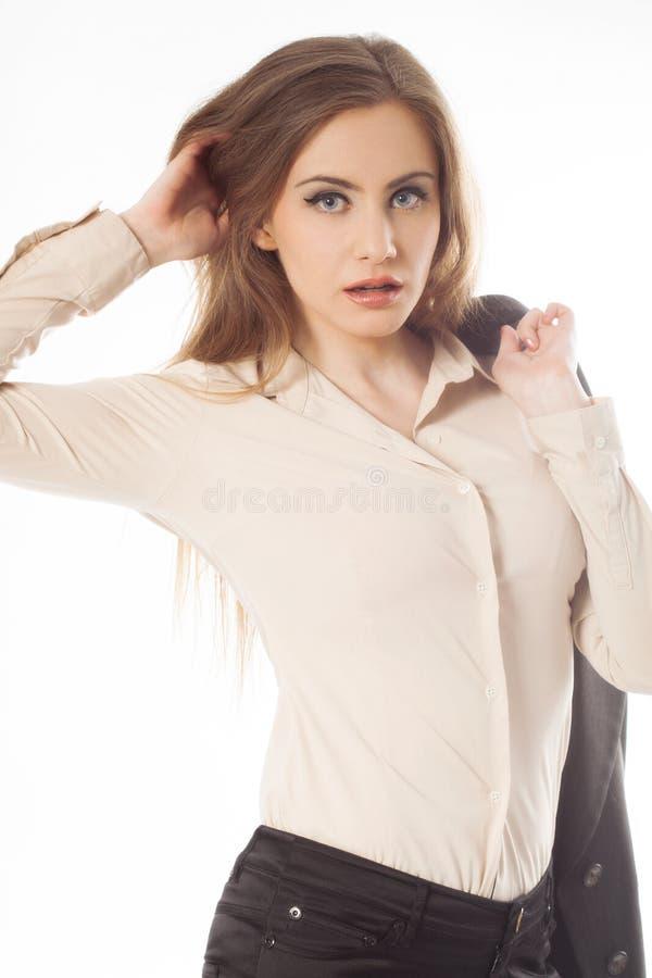 Młody biznesowej kobiety portret zdjęcia stock