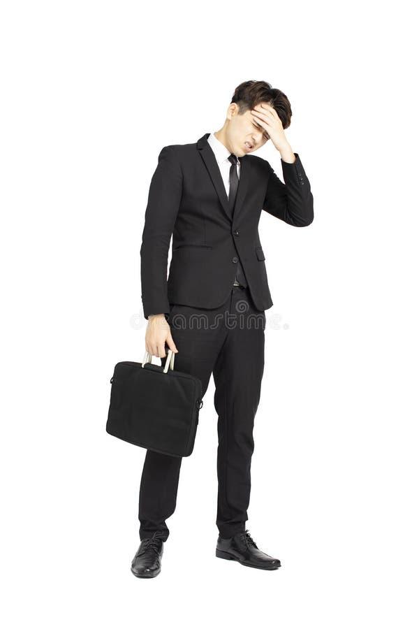 Młody biznesowy mężczyzna pod stresem fotografia stock