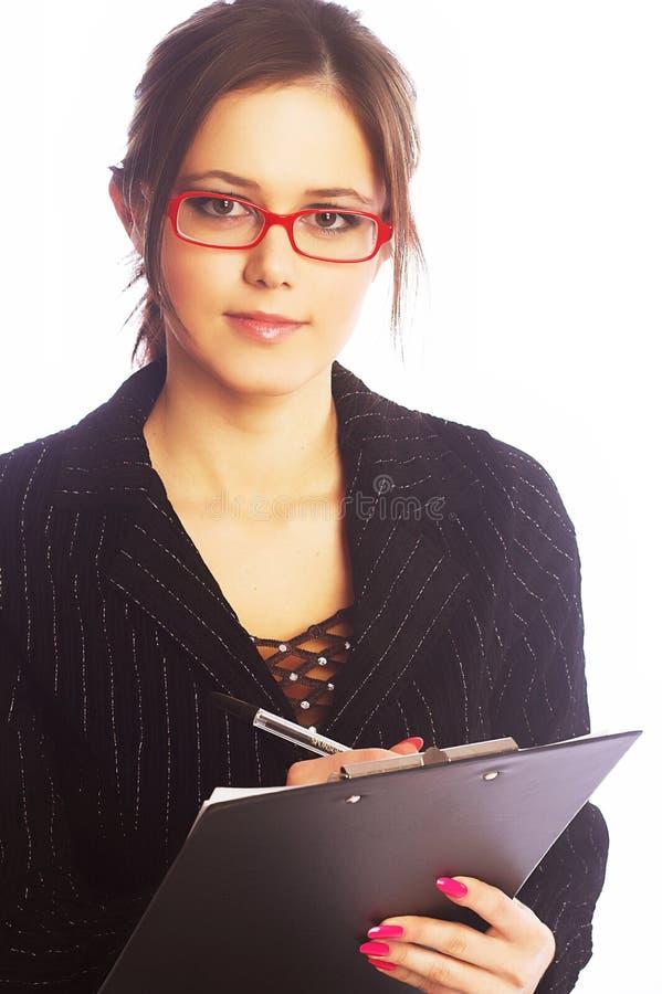 Młody bizneswomanu writing zdjęcia royalty free