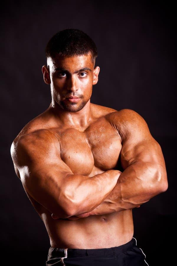 Młody bodybuilder pozować obrazy royalty free