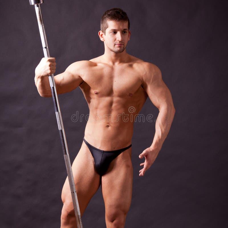 Młody bodybuilder traininig obraz royalty free