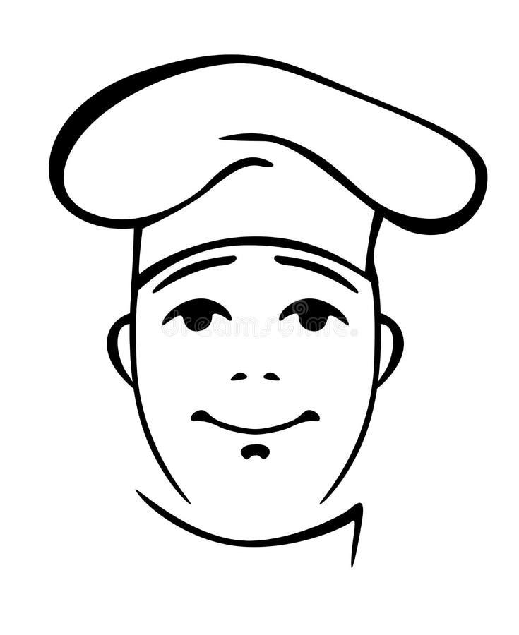 Młody chińczyka kucharz w toque ilustracji