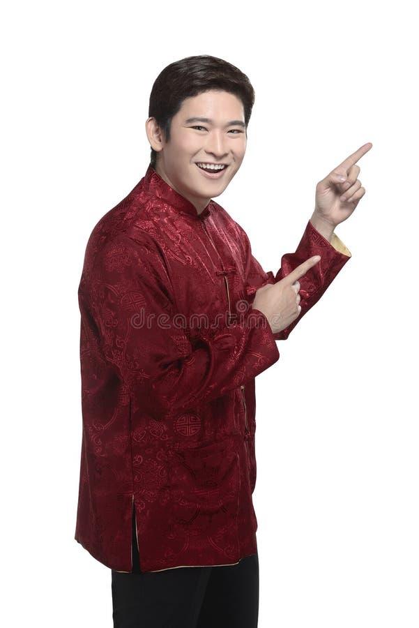 Młody chiński mężczyzna w cheongsam kostiumu zdjęcia royalty free