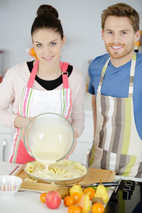 Młody ciasto do pieczenia fotografia stock