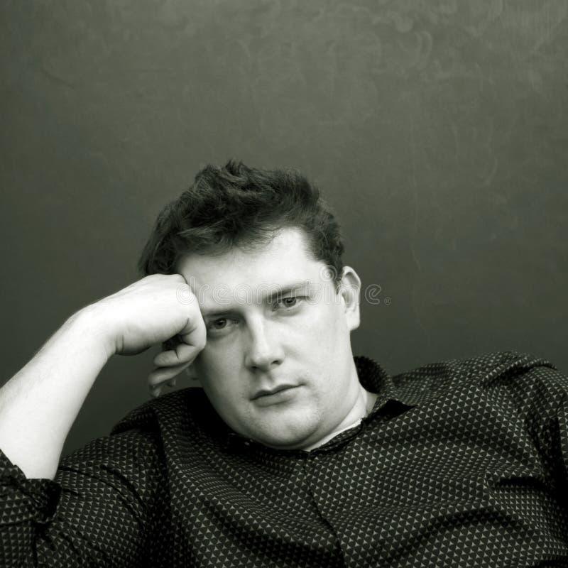 Młody człowiek, portret fotografia royalty free