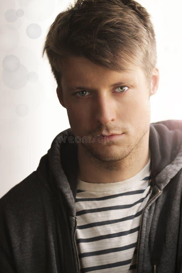 Młody człowiek twarz zdjęcie stock