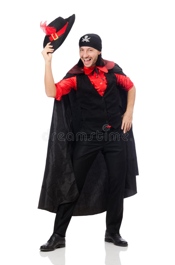 Download Młody Człowiek W Karnawałowym żakiecie Odizolowywającym Na Bielu Obraz Stock - Obraz złożonej z tło, twarz: 57652141