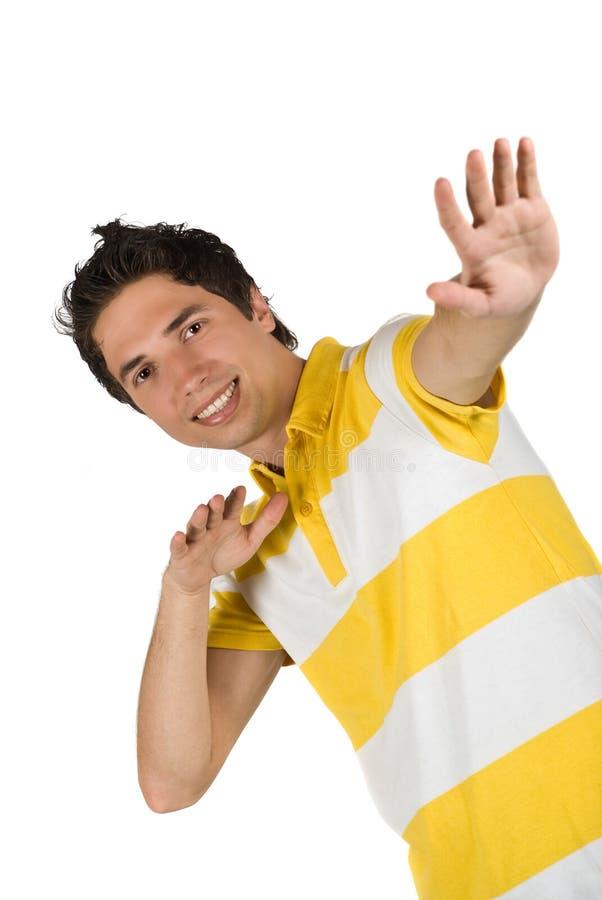 Młody człowiek w koszulce obrazy royalty free