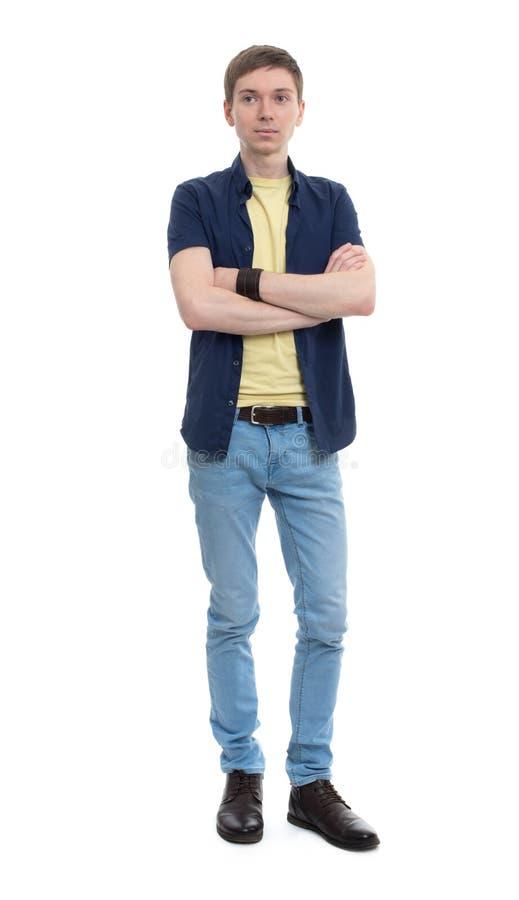 Młody człowiek w przypadkowym odziewa zdjęcie royalty free