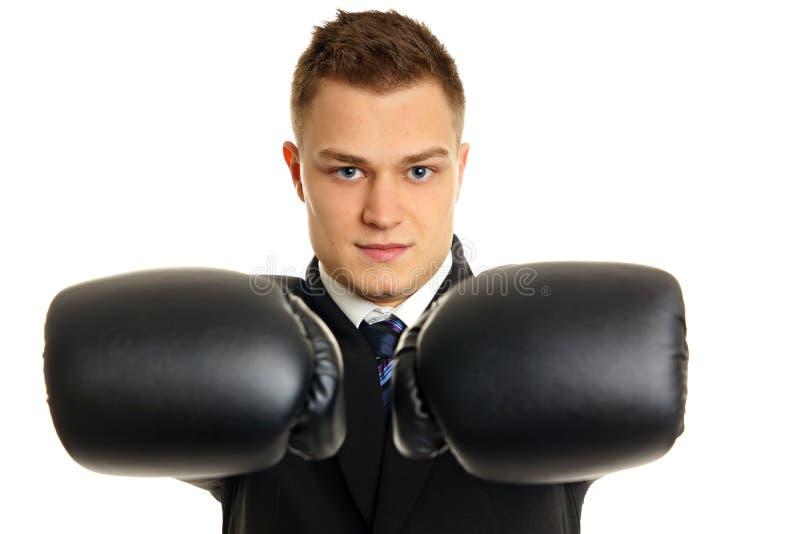 Download Młody Człowiek Z Bokser Rękawiczkami Obraz Stock - Obraz złożonej z target195, tło: 42525913