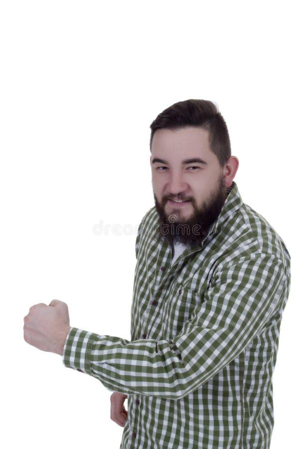 Młody człowiek z brodą zdjęcia stock