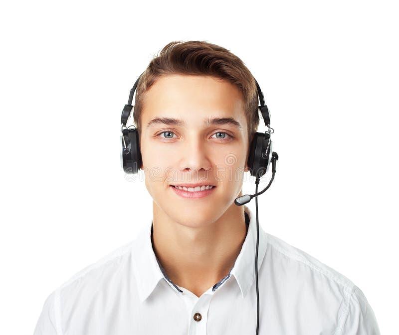 Młody człowiek z słuchawki obrazy stock