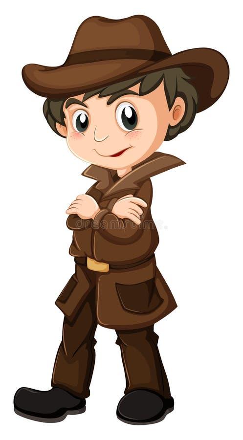 Młody detektyw royalty ilustracja