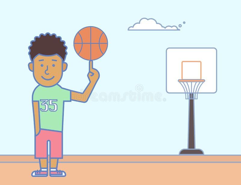 Młody gracz koszykówki ilustracja wektor