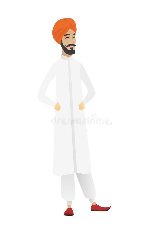 Młody hinduski biznesmena śmiać się royalty ilustracja
