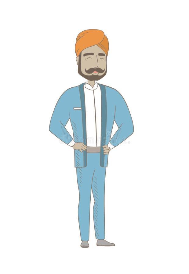 Młody hinduski biznesmena śmiać się ilustracja wektor