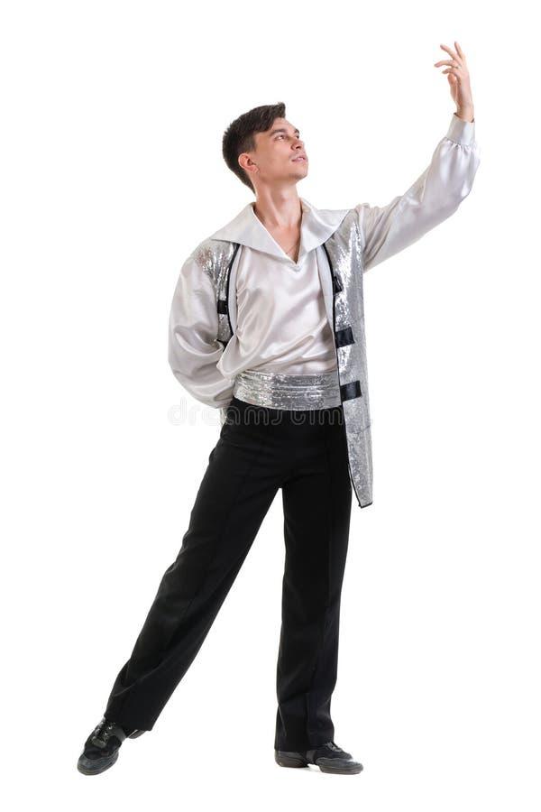 Młody i elegancki nowożytny baletniczy tancerz, odizolowywający obraz stock