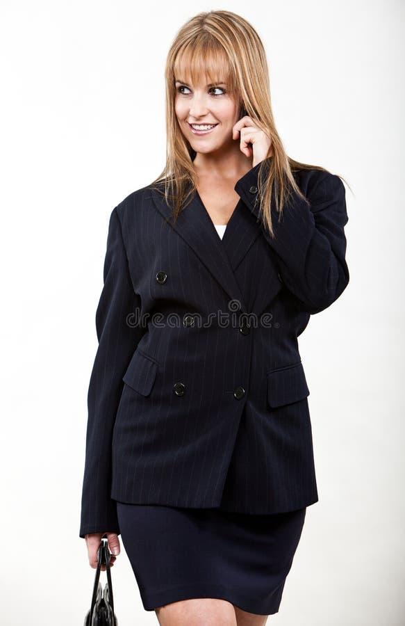 Młody i piękny blond caucasian bizneswoman zdjęcie royalty free