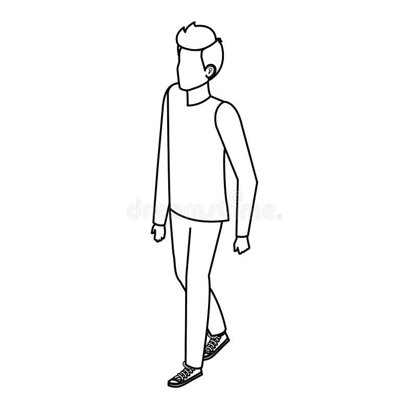 Młody i przypadkowy mężczyzna charakter royalty ilustracja