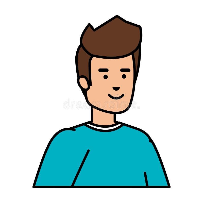 Młody i przypadkowy mężczyzna charakter ilustracja wektor