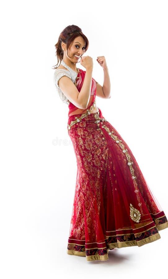 Download Młody Indiański Kobiety Odświętności Sukces Zdjęcie Stock - Obraz złożonej z hindus, pięść: 41951704