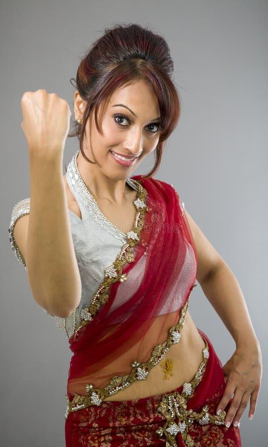 Download Młody Indiański Kobiety Odświętności Sukces Zdjęcie Stock - Obraz złożonej z widok, fryzury: 41951794