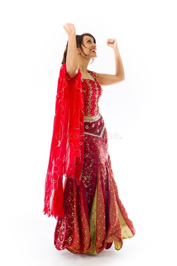 Download Młody Indiański Kobiety Odświętności Sukces Zdjęcie Stock - Obraz złożonej z świętowanie, facial: 41952386
