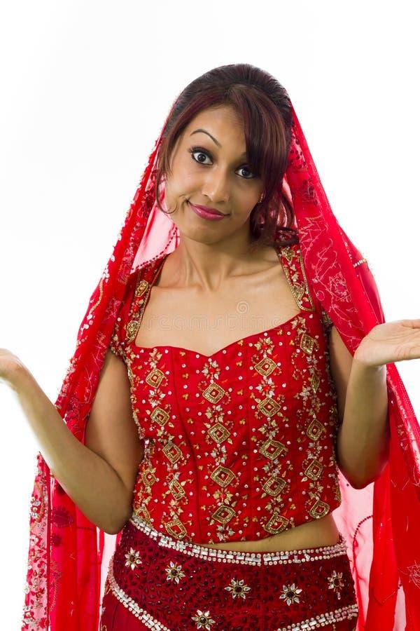 Download Młody Indiański Kobiety Wzruszać Ramionami Zdjęcie Stock - Obraz złożonej z fotografia, duży: 41952446
