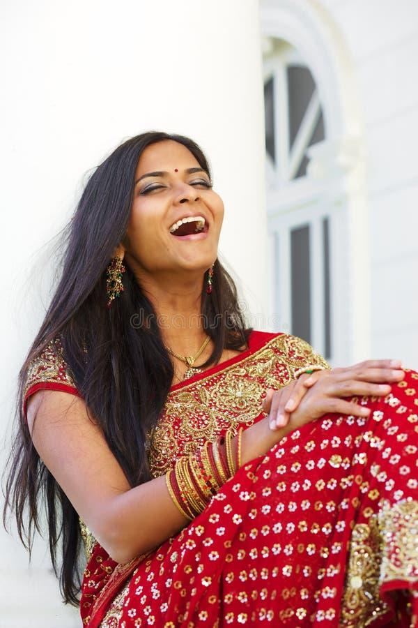 Młody indyjski kobiety Śmiać się fotografia stock
